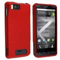 Insten® Snap-in Rubber Coated Case For Motorola Droid X MB810, Red