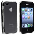 Insten® Hard Plastic Snap-in Case With Cover For Apple iPhone 4/4S, Clear With Black Trim