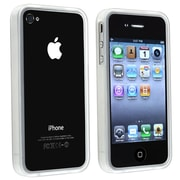 Insten® TPU Rubber Bumper Skin Case For Apple iPhone 4/4S, Clear White