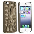 Insten® Hard Plastic Snap-in Case For Apple iPhone 5/5S, Clear Smoke Diamond Cut