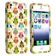Insten® Rubber Coated Snap-in Case For Apple iPhone 5/5S, Fancy Owls