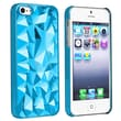 Insten® Hard Plastic Snap-in Case For Apple iPhone 5/5S, Clear Blue Diamond Cut