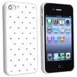 Insten® Hard Plastic Snap-in Case For Apple iPhone 4/4S, White Diamond Gem