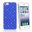 Insten® Plastic Snap-in Case For Apple iPhone 5/5S, Blue Lattice Diamonds
