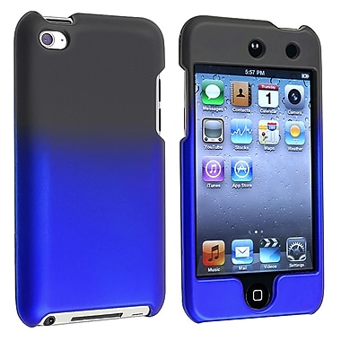Insten® Rubber Coated Snap-in Case For iPod Touch 4th Gen, Black To Blue