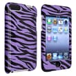 Insten® Hard Plastic Snap-in Case For iPod Touch 2nd/3rd Gen, Purple/Black Zebra