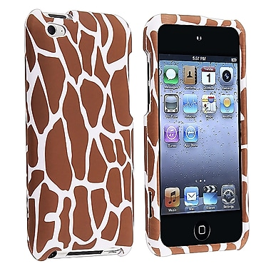 Insten® Rubber Coated Snap-in Case For iPod Touch 4th Gen, Giraffe