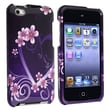 Insten® Hard Plastic Snap-in Case For iPod Touch 4th Gen, Dark Purple Heart