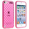 Insten® TPU Rubber Case For iPod Touch 5th Gen, Clear Hot Pink Diamond