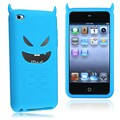 Insten® Silicone Skin Case For iPod Touch 4th Gen, Blue Devil