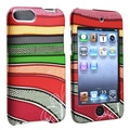 Insten® Rubber Coated Snap-in Case For iPod Touch 2nd/3rd Gen, Colorful Strips