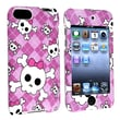 Insten® Hard Plastic Snap-in Case For iPod Touch 2nd/3rd Gen, Light Purple/Cute Skull