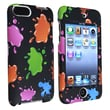 Insten® Rubber Coated Snap-in Case For iPod Touch 2nd/3rd Gen, Black/Colorful Blobs