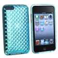 Insten® TPU Rubber Skin Case For iPod Touch 2nd/3rd Gen, Clear Blue Diamond