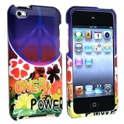Insten® Hard Plastic Snap-in Case For iPod Touch 4th Gen, Peace Sign Flower
