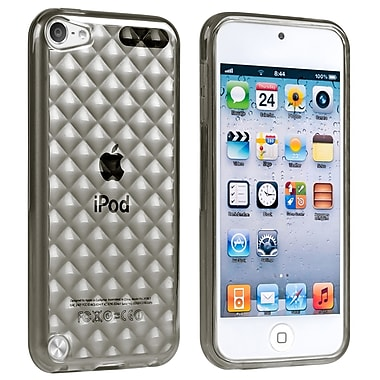 Insten® TPU Rubber Case For iPod Touch 5th Gen, Clear Smoke Diamond