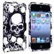 Insten® Hard Plastic Snap-in Case For iPod Touch 4th Gen, White Skull