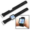 Insten® Leather Wristband For iPod nano 6th Gen, Black