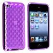 Insten® TPU Rubber Skin Case For iPod Touch 4th Gen, Clear Dark Purple Diamond