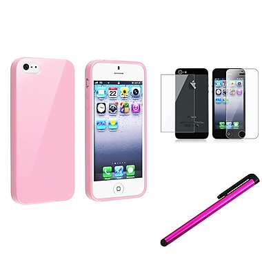 Insten® 1146043 3 Piece Case Bundle For Apple iPhone 5/5S