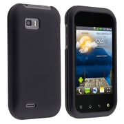Insten® Hard Plastic With Rubber Coated Snap-in Case For LG MyTouch Q, Black