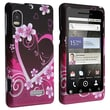 Insten® Snap-in Rubber Coated Case For Motorola A955 Droid 2, Dark Purple Heart