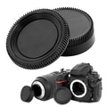 Insten® Camera Body Cap & Rear Lens Cover Cap For Nikon D200, Black
