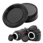 Insten® Camera Body Cap & Rear Lens Cover Cap For Nikon D200, Black