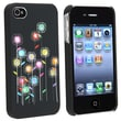 Insten® Rubber Coated Slim Fit Snap-in Case For Apple iPhone 4/4S, Black/Multi-color Sunflowers