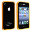 Insten® TPU Rubber Bumper Case For Apple iPhone 4/4S, Orange Shiny