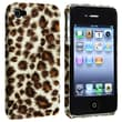 Insten® Hard Plastic Snap-in Case For Apple iPhone 4/4S, Brown Leopard