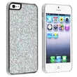 Insten® Hard Plastic Snap-in Case For Apple iPhone 5/5S, Silver Bling