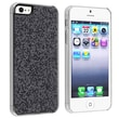 Insten® Hard Plastic Snap-in Case For Apple iPhone 5/5S, Black Bling