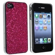 Insten® Rubber Coated Snap-in Case For Apple iPhone 4/4S, Hot Pink Bling