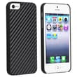 Insten® Hard Plastic Snap-in Case For Apple iPhone 5/5S, Carbon Fiber