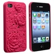 Insten® Hard Plastic Snap-in Case For Apple iPhone 4/4S, Hot Pink 3D Rose Sculpture