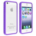 Insten® TPU Rubber Bumper Case For Apple iPhone 5/5S, Purple