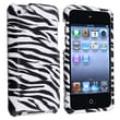 Insten® Hard Plastic Snap-in Case For iPod Touch 4th Gen, White/Black Zebra