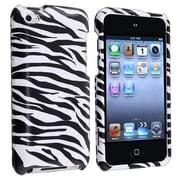 Insten® Hard Plastic Snap-in Case For iPod Touch 4th Gen, White/Black Zebra