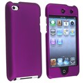 Insten® Rubber Coated Snap-in Case For iPod Touch 4th Gen, Dark Purple