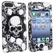 Insten® Hard Plastic Snap-in Case For iPod Touch 2nd/3rd Gen, White Skull