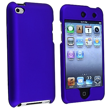 Insten® Rubber Coated Snap-in Case For iPod Touch 4th Gen, Dark Blue