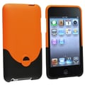 Insten® Rubber Coated Snap-in Case For iPod Touch 2nd/3rd Gen, Orange/Black