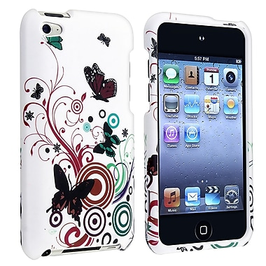 Insten® Snap-in Case For iPod Touch 4th Gen, White Autumn Flower