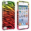 Insten® Hard Plastic Snap-in Case For iPod Touch 5th Gen, Colorful Zebra