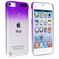 Insten® Hard Plastic Snap-in Case For iPod Touch 5th Gen, Clear Purple Waterdrop