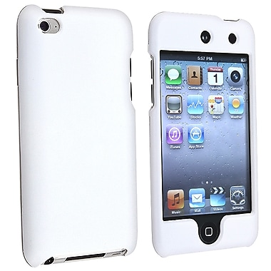 Insten® Rubber Coated Snap-in Case For iPod Touch 4th Gen, White