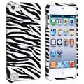 Insten® Hard Plastic Snap-in Case For iPod Touch 5th Gen, White/Black Zebra