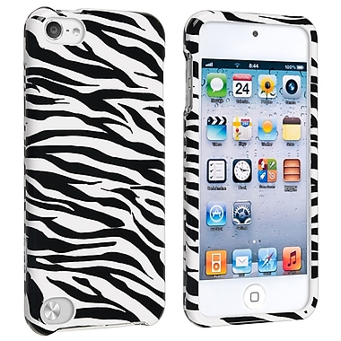 Insten® Hard Plastic Snap-in Case For iPod Touch 5th Gen, White/Black Zebra