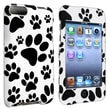 Insten DAPPTOUCO124 Rubber Case for Apple iPod Touch 2nd/3rd Gen, White Paw